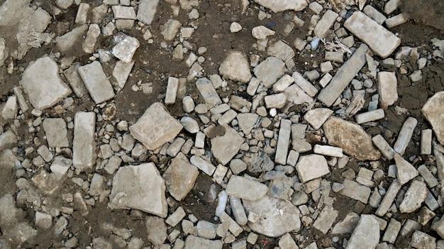 Van de steentextuur natuurlijk abstract donker zwart-wit close-up als achtergrond Premium Foto