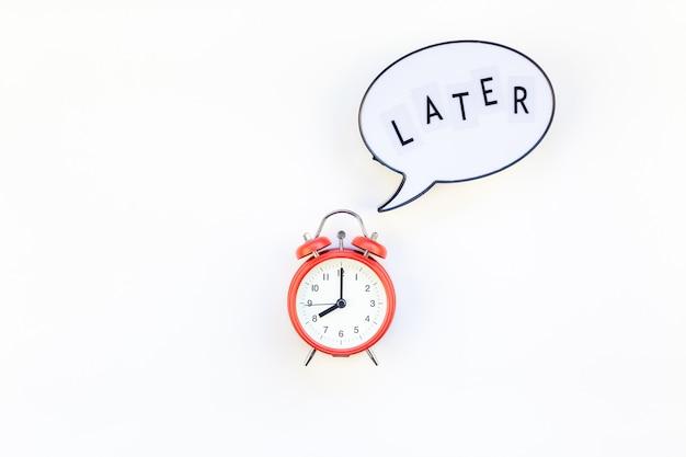 Van uitstel en tijdmanagement Premium Foto