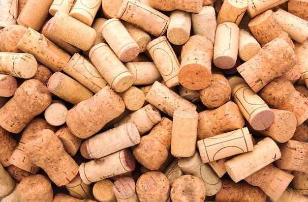 Veel wijnkurken Premium Foto