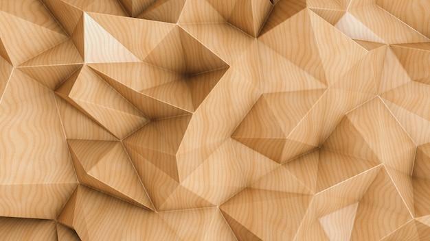 Veelhoekige abstracte achtergrond met houten textuur Premium Foto