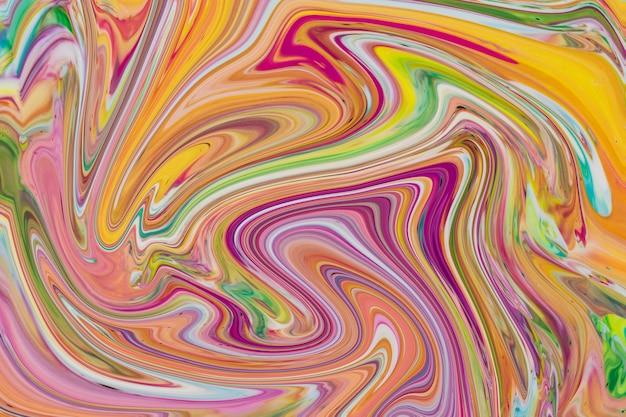 Veelkleurige kleurrijke achtergrond in het acryl gieten Gratis Foto