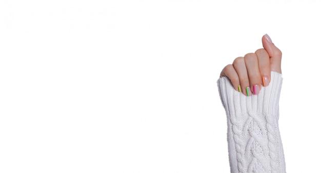 Veelkleurige moderne manicure Premium Foto