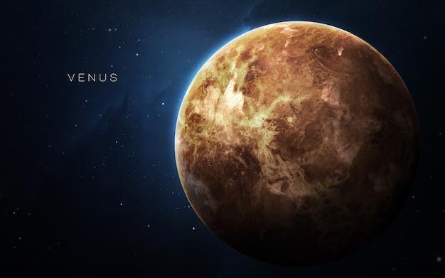 Venus in de ruimte, 3d illustratie. . Premium Foto