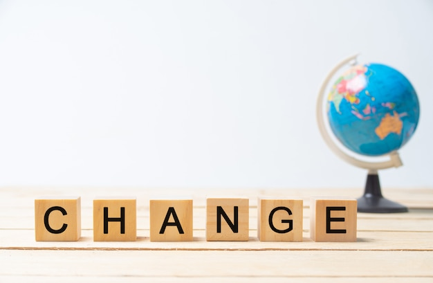 Verander de wereld. Premium Foto
