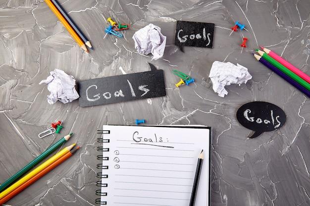 Verander uw mentaliteit, zakelijke motiverende inspirerende, doelen Premium Foto