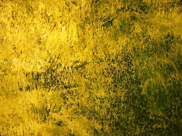 Verf penseelstreek olieverf goud Premium Foto
