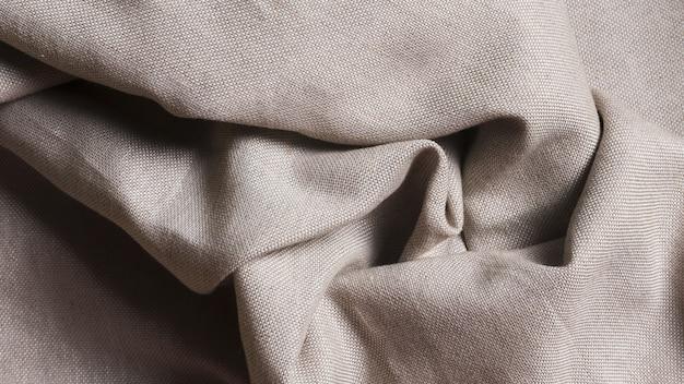 Verfrommeld zwart-wit zijden stof Gratis Foto