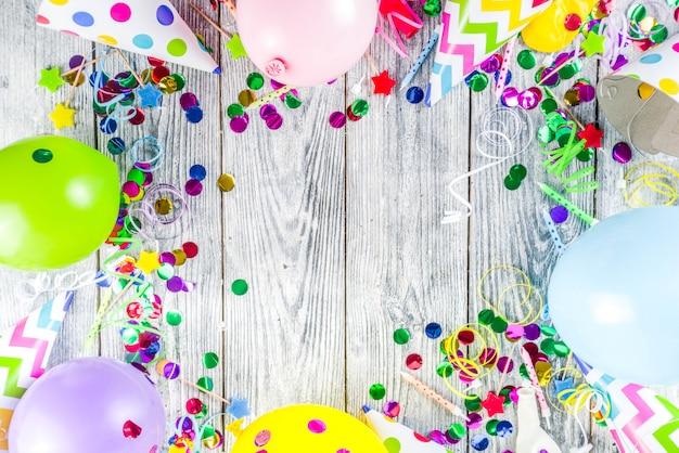 Verjaardag partij decoratie achtergrond Premium Foto