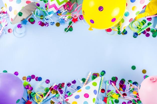 Verjaardagsfeest achtergrond Premium Foto