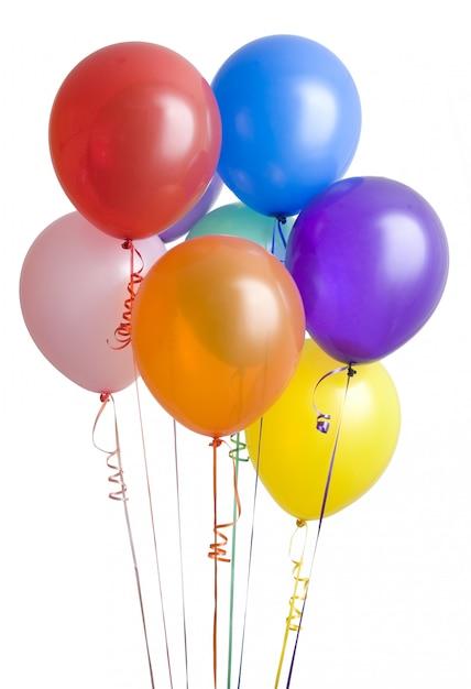 Verjaardagsfeest ballonnen voor feest Premium Foto