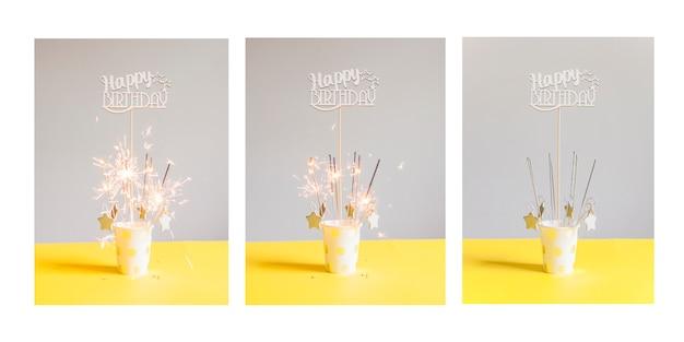 Verjaardagskaart serie Gratis Foto