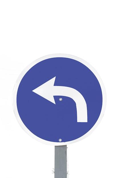 Verkeerspijl alleen links Gratis Foto