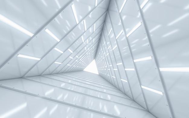 Verlicht corridor interieur Premium Foto