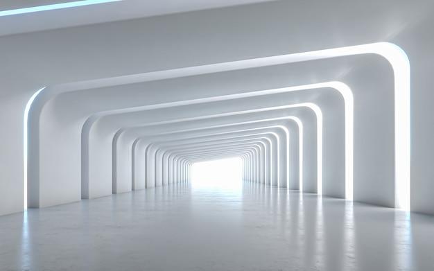 Verlicht interieurontwerp van de gang Premium Foto