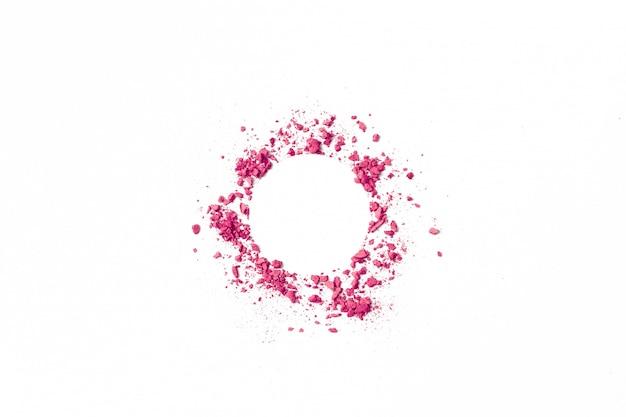 Verpletterde oogschaduwtextuur. neonpalet make-up poeder Premium Foto