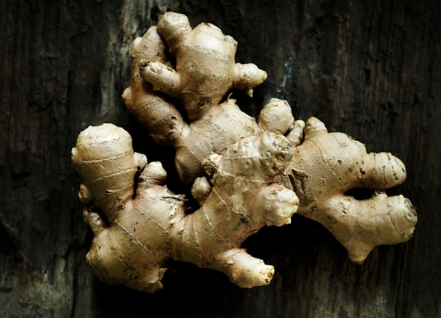 Vers gingers aziatisch kokend ingrediënt Gratis Foto