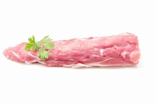 Vers rauw varkensvlees Premium Foto