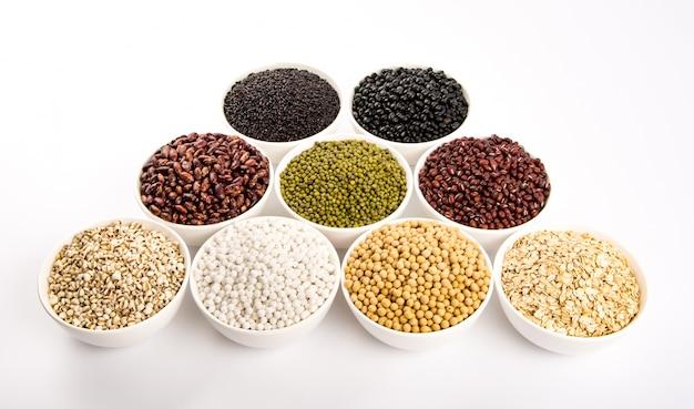 Verscheidenheid van peulvruchten Gratis Foto