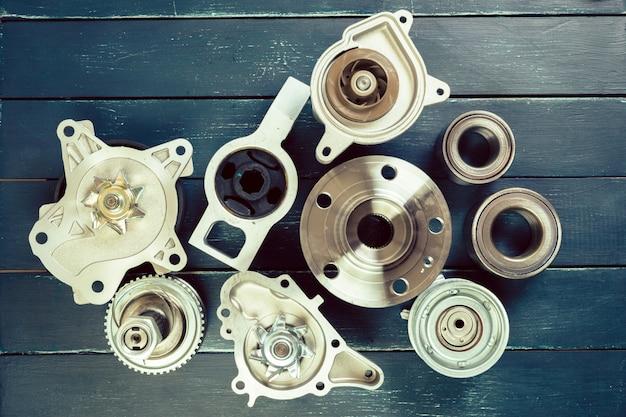 Verschillende auto-onderdelen Premium Foto