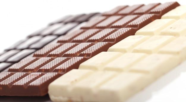 Verschillende chocoladerepen Gratis Foto