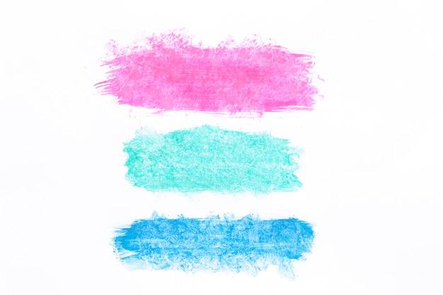 Verschillende gekleurde penseelstreken Premium Foto