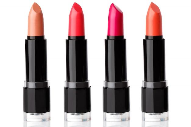 Verschillende lippenstiften Premium Foto