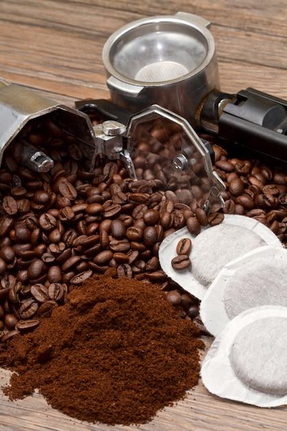 Verschillende soorten koffie Premium Foto