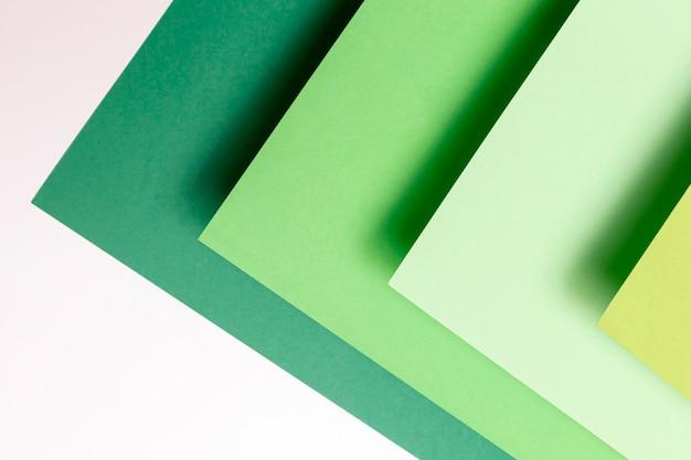 Verschillende tinten groen patronenclose-up Gratis Foto