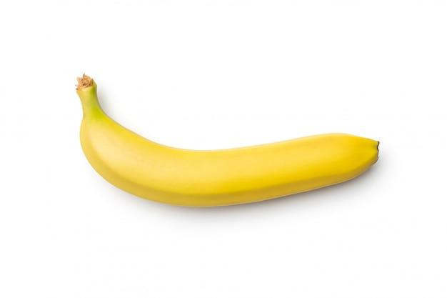 Verse banaan die op witte achtergrond wordt geïsoleerd Premium Foto