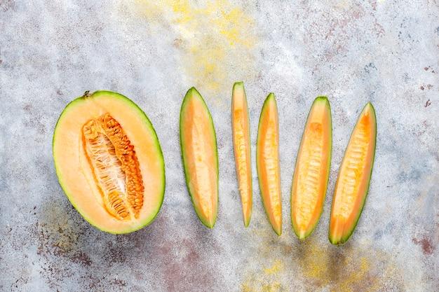 Verse biologische meloen meloen. Gratis Foto