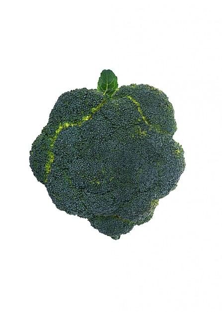Verse broccoli die over wit worden geïsoleerd Gratis Foto