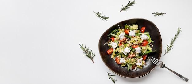 Verse gezonde salade kopie ruimte Gratis Foto