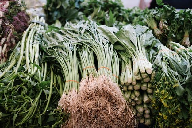 Verse groente in de markt Gratis Foto