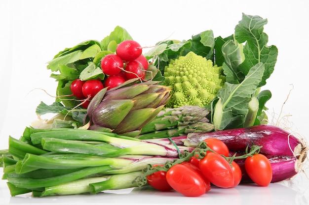 Verse groep groenten Premium Foto