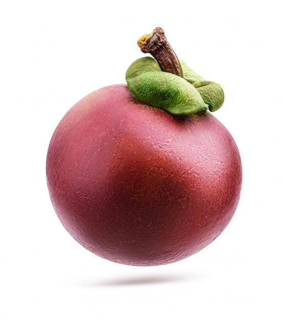 Verse mangosteen geïsoleerd Premium Foto