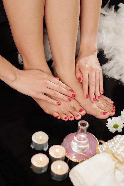 Verse manicure en pedicure Premium Foto