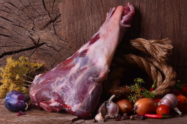 Verse schapenpoot Premium Foto