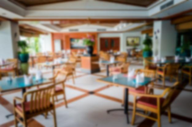 Vervaag de restaurantstoel Premium Foto