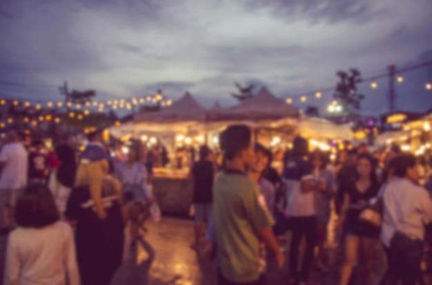 Vervagen festival Premium Foto