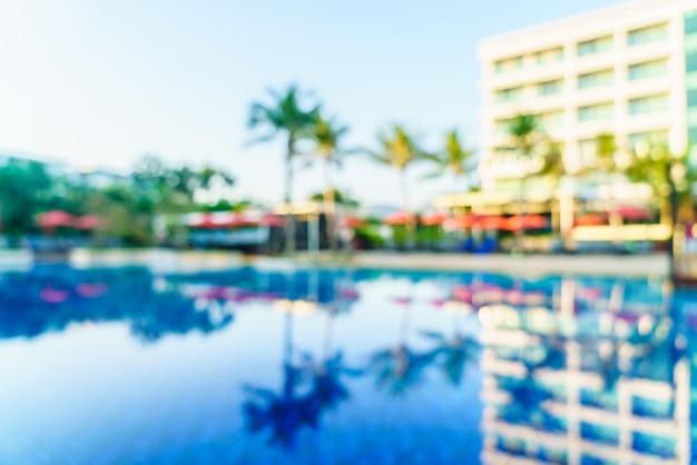 Vervagen zwembad hotel resort Gratis Foto