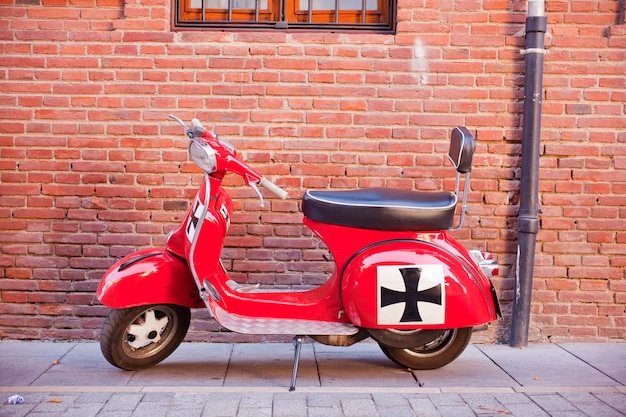 Vespa, italiaanse scooter Premium Foto