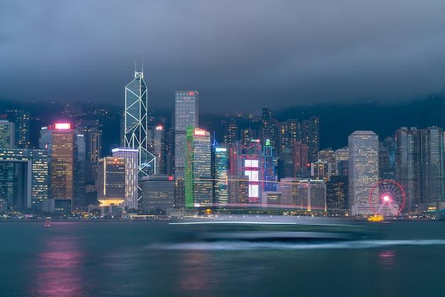 Victoria harbour in hong kong Premium Foto