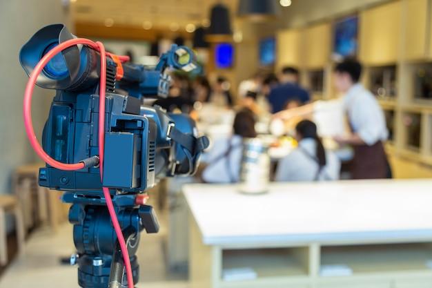 Videocamera stand-by in koken scool. Premium Foto