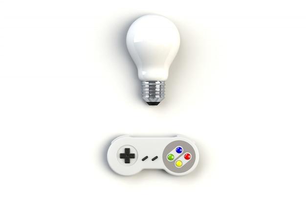 Videogameconsole gamepad. gaming concept Premium Foto