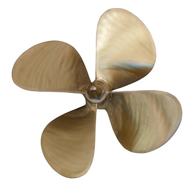Vierbladige propeller over wit Gratis Foto