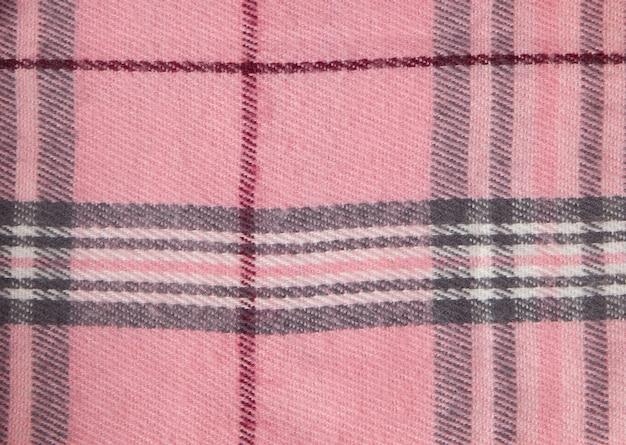 Vierkante patroon stof achtergrond. texturen roze en witte katoenen stof. het patroon voor textiel. cel. shirts geruite. trendy illustratie voor wallpapers. modeontwerp en huisinterieurontwerp Premium Foto