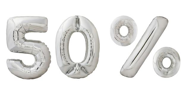 Vijftig procent korting chroom ballonnen Premium Foto
