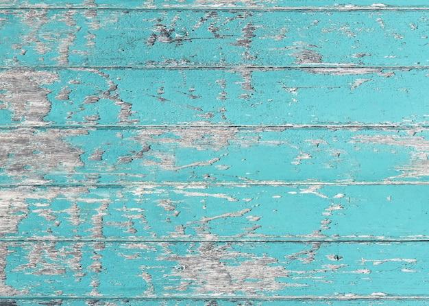 Vintage blauwe kleur geschilderd houten muur als achtergrond of textuur Premium Foto