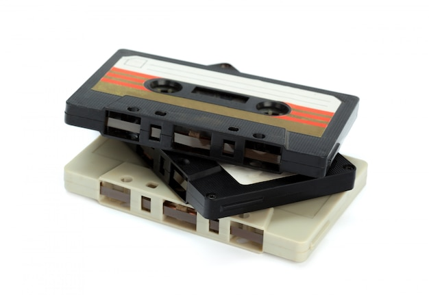 Vintage cassette geïsoleerd Premium Foto
