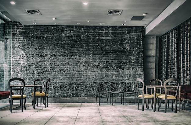 Vintage decoratie binnen restaurant foto gratis download